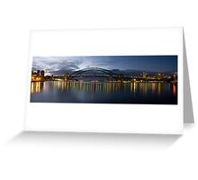 Night Reflections - (30 Exposure HDR Pano) -The HDR Experience Greeting Card