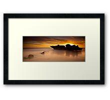Shipwreck Rock Framed Print