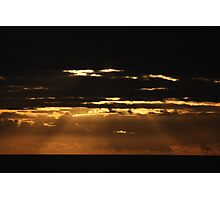 great sunbeams over Rota waters Photographic Print