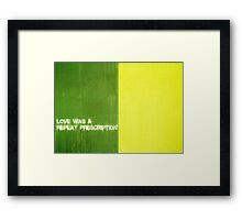 Repeated Dependence Framed Print