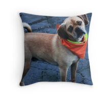 MS SUPPORTIVE POOCH  Throw Pillow