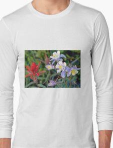 Colorado Blue Columbine Long Sleeve T-Shirt