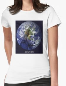 DO I LIVE HERE? Womens Fitted T-Shirt
