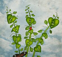 Pea Pod Hearts by Sybille Sterk