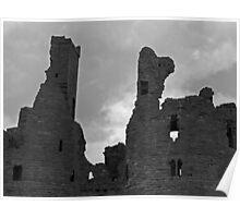 Dunstanburgh Castle (B&W) Poster
