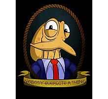 Octodad - Nobody Suspects a Thing - Tattoo Style Photographic Print