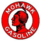 Mohawk Gasoline vintage sign flat version by htrdesigns