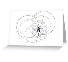 ICE HOCKEY PLAYER IN BLUE AND WHITE DRESS Greeting Card