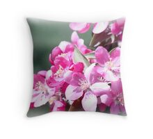 Pink Buds in Spring Throw Pillow