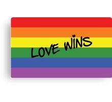 Love Wins! Canvas Print