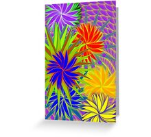 Psychedelic Neon Garden Greeting Card