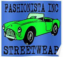 Fashionista Auto Green Poster