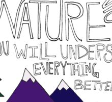 Einstein: Nature Sticker