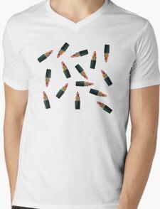 Scattered Lipsticks Mens V-Neck T-Shirt