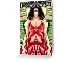 Cubist woman Greeting Card