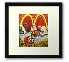 Dooms day and fries Framed Print