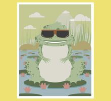 Xenopus with sunglasses in a pond Kids Clothes