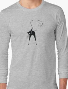 Black cat silhouette Long Sleeve T-Shirt