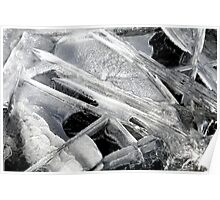 Abstract Nature : White Ice Poster