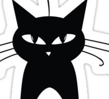 Black cat silhouette Sticker