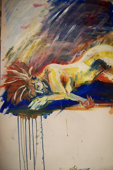 Life drawing - rainbow nude by Gema Sharpe