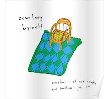 Courtney Barnett 'Sometimes' Album (w/ text) Poster