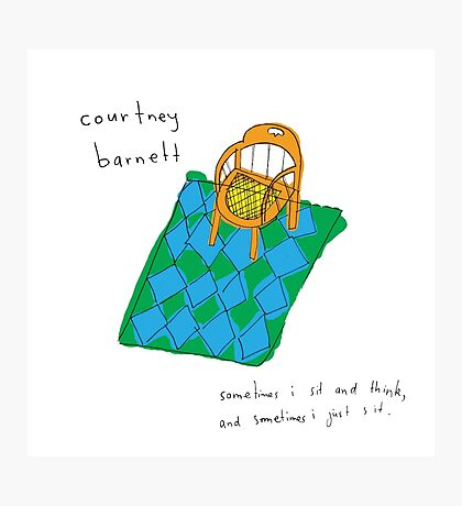 Courtney Barnett 'Sometimes' Album (w/ text) Photographic Print