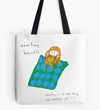 Courtney Barnett 'Sometimes' Album (w/ text) Tote Bag
