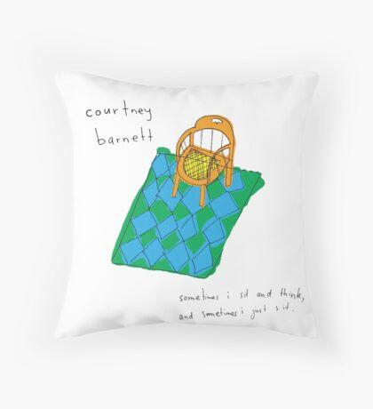 Courtney Barnett 'Sometimes' Album (w/ text) Throw Pillow