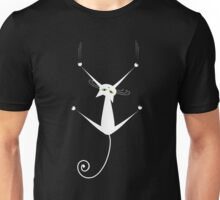 White cat silhouette Unisex T-Shirt