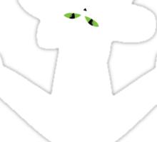 White cat silhouette Sticker