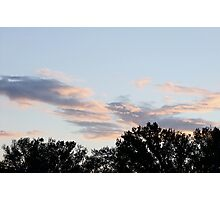 Late Afternoon sky Photographic Print