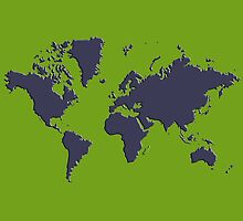 World Splatter Map - nkelly green by Mark McKinney