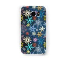 multi-colored snowflakes Samsung Galaxy Case/Skin