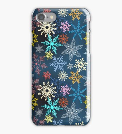 multi-colored snowflakes iPhone Case/Skin