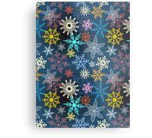 multi-colored snowflakes Metal Print