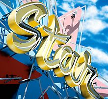 Hollywood Star Bowling Alley Neon Sign by Anthony Ross