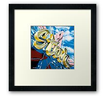 Hollywood Star Bowling Alley Neon Sign Framed Print