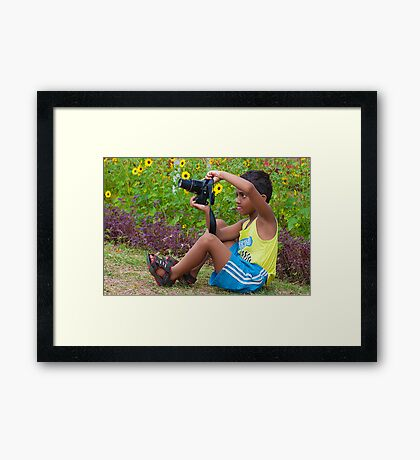 Upcoming Photographer Framed Print