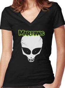 Misfits (Martians) Women's Fitted V-Neck T-Shirt
