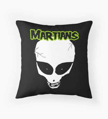 Misfits (Martians) Throw Pillow