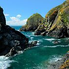 Mullion Cove Seascape, Cornwall. by rodsfotos