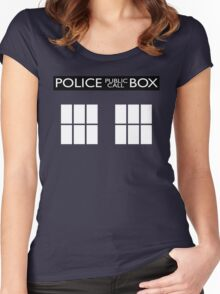 Police Public Call Box Tardis Women's Fitted Scoop T-Shirt
