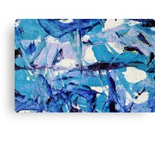 abstract line blue Canvas Print