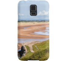 Northumbrian beach scene Samsung Galaxy Case/Skin