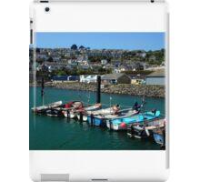 Crabber's Row, Newlyn, Cornwall iPad Case/Skin