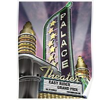 Palace Theater Retro Neon Sign Poster