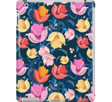 pattern of flowers tulips iPad Case/Skin