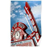 Time to Buy Liquor Store Retro Neon Sign Poster