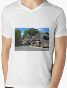 Heart of the Village Mens V-Neck T-Shirt
